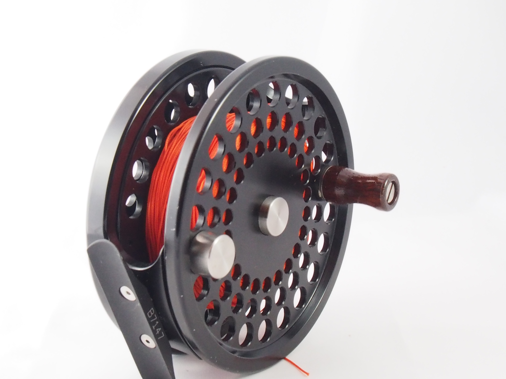 Made in the usa aaron 4 9 10 salmon fly reel vintage for Salmon fishing reels