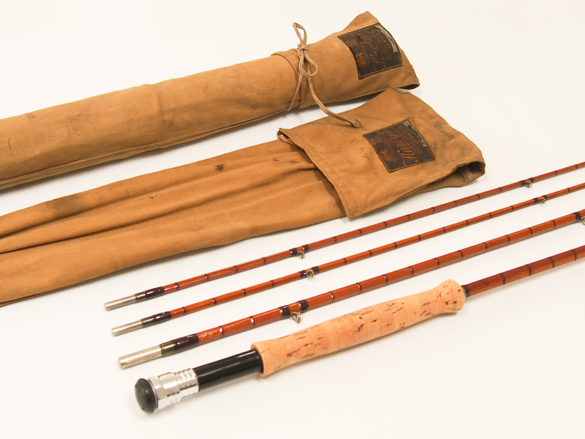 Rare hardy 1951 the rogue river palakona split cane for Fly fishing rods for sale