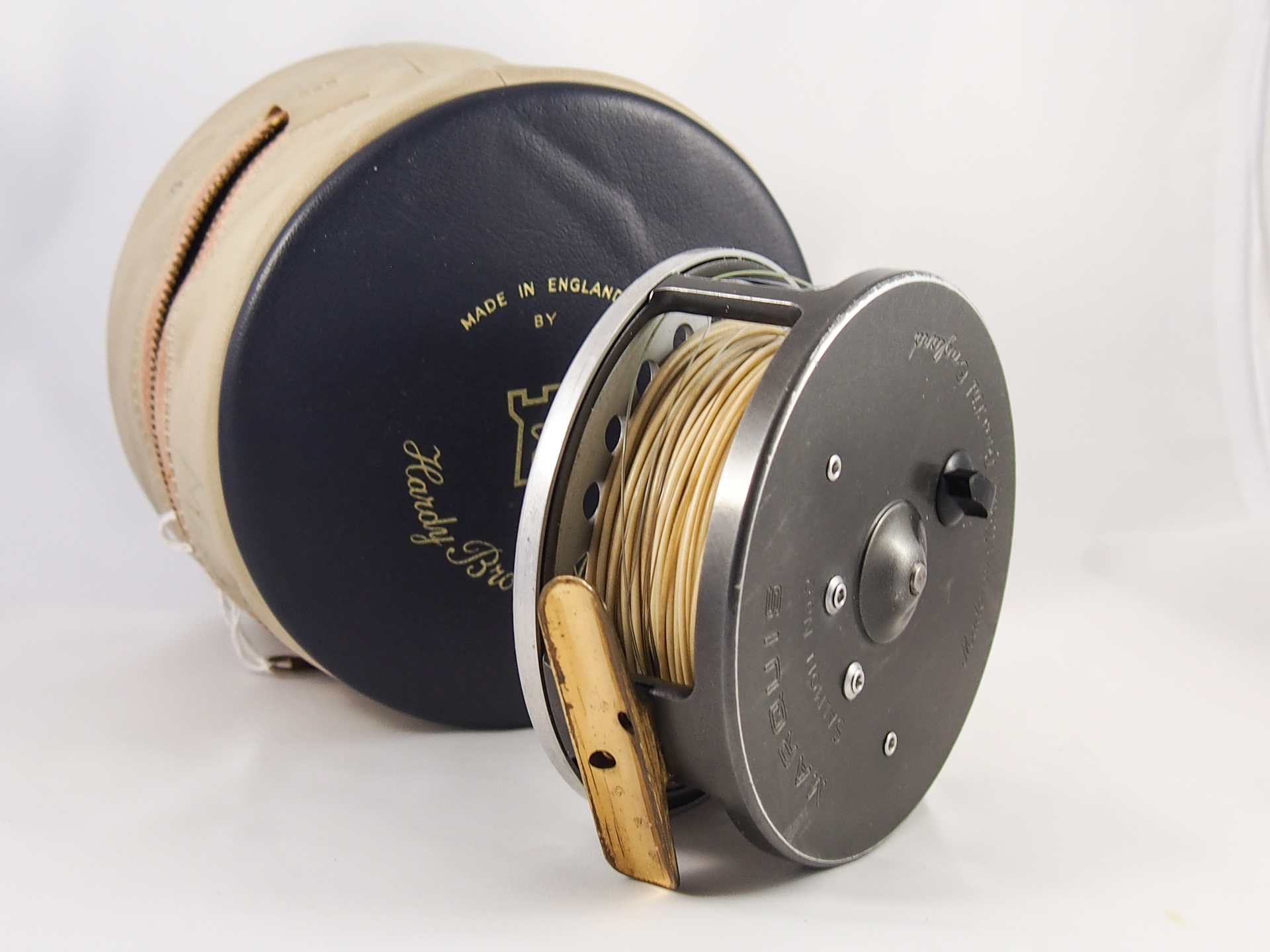 Hardy marquis no 2 salmon fly reel vintage fishing tackle for Salmon fishing reels