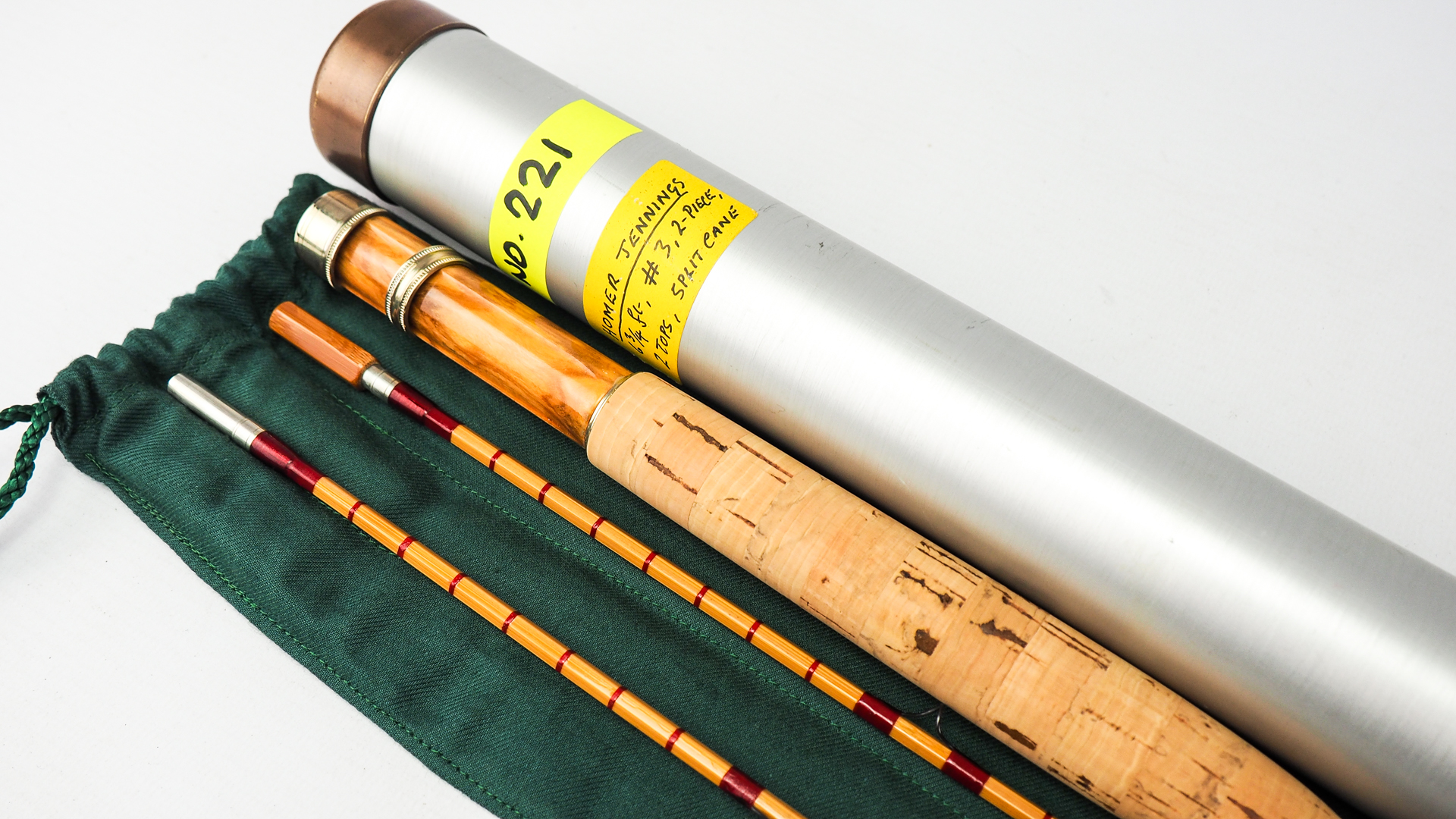 Rare Homer L Jennings 6 9 3 Hand Built Cane Fly Rod